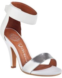 Jeffrey Campbell Hough Sandal White Leather - Lyst