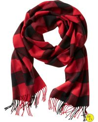 Banana Republic Factory Buffalo Check Scarf red - Lyst