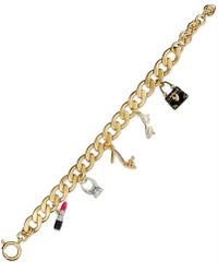Juicy Couture - Gold Tone Glamour Girl Charm Bracelet  - Lyst