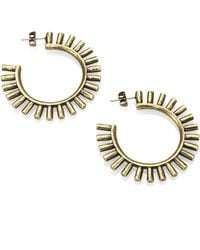 Giles & Brother Antiqued Spike Hoop Earrings3 - Lyst