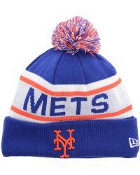 the latest c1771 2fb88 ... sweden ktz new york mets biggest fan pom knit hat lyst 1bab3 20b21  promo code new york mets 47 mlb ice block cuff knit 7b74a 65a3b ...