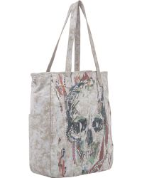 Alexander McQueen Skull Collage Shopper Tote - Lyst