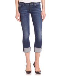 Hudson | Ginny Rolled Cropped Jeans | Lyst
