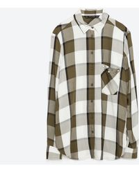 Zara | Check Shirt | Lyst