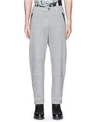 Alexander McQueen   Zip Cuff Organic Cotton Sweatpants   Lyst