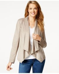 Style & Co. - Faux-suede Draped Jacket, Only At Macy's - Lyst
