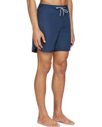 Marc By Marc Jacobs - Blue Solid Swim Shorts - Lyst