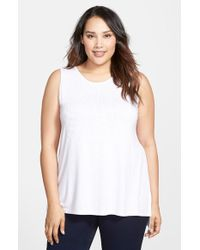 Vince Camuto Embellished Sleeveless Top - Lyst