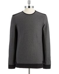Calvin Klein Gray Colorblock Sweater - Lyst