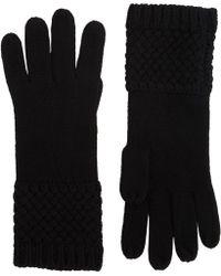 Barneys New York Basketweave Gloves black - Lyst