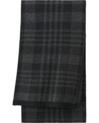 Uniqlo Men Heattech Knit Scarf Check - Lyst