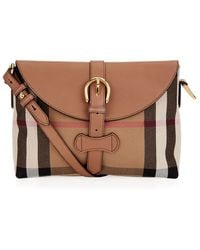 Burberry Small House Check Crossbody Bag - Lyst