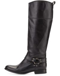 Frye Melissa Harness Leather Riding Boot - Lyst