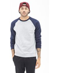 21men Colorblocked Raglan Sweatshirt - Lyst