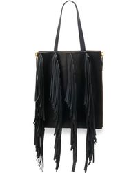 Marni Fringe Leather Shopping Tote Bag - Lyst