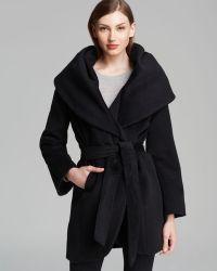 Elie Tahari Coat  Marla Wool Wrap - Lyst
