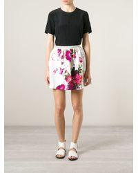 Isola Marras - Floral Print Skirt - Lyst