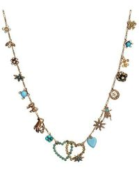 Katherine Wallach | Blue Heart Necklace | Lyst