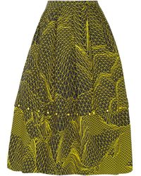 Christopher Kane Geometric-Print Cotton Skirt - Lyst