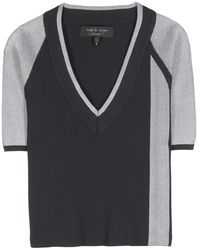 Rag & Bone Sammi Stretchjersey Top - Lyst