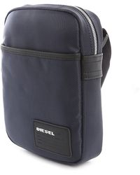 Diesel Blue Fuzzy Nylon Bag blue - Lyst