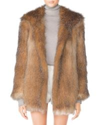 Tamara Mellon Hooded Fox Fur Coat - Lyst
