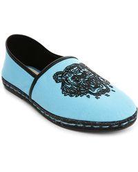 Kenzo Tiger Slipper Blue Espadrilles - Lyst