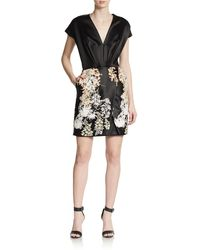 Blumarine Embroidered Satin Dress - Lyst