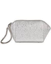 Alexander Wang - Chastity Silver Foiled Leather Clutch - Lyst