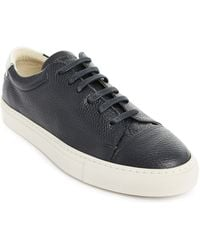 National Standard Edition 3 Navy Grain-Embossed Leather Sneakers - Lyst