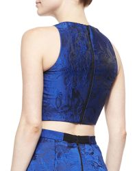 Alice + Olivia - Kesten Floral Brocade Crop Top & Cohe Floral Brocade Asymmetric Skirt - Lyst