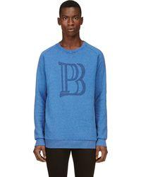 Pierre Balmain Blue Logo Sweatshirt - Lyst