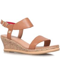 Tommy Hilfiger Ilona 1a Mid Wedged Sandals - Lyst