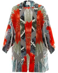 Athena Procopiou - Palawani Printed Silk Cover-up - Lyst