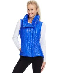 Betsey Johnson Asymmetrical Quilted Puffer Vest - Lyst