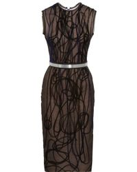 Roksanda Embroidered Organza And Crepe Dress - Lyst