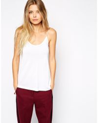 Asos Cami Top with Barely There Straps - Lyst