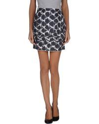 Balenciaga Gray Mini Skirt - Lyst