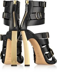 Casadei Buckled Leather Sandals - Lyst