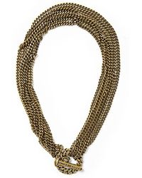 Giles & Brother Chain and Spike Toggle Necklace - Lyst