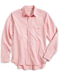 Burberry Brit 'Waller' Trim Fit Sport Shirt pink - Lyst