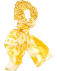 Missoni Silk And Crochet-Knit Turban Scarf yellow - Lyst