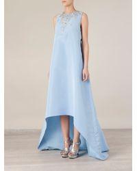 Oscar de la Renta Embellished Asymmetric Gown - Lyst