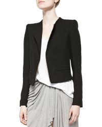 Zadig & Voltaire Open-Front Cropped Jacket - Lyst