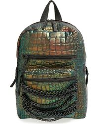 Ash - 'domino' Croc Embossed Leather Backpack - Lyst
