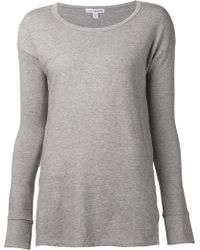 James Perse Fleece Top - Lyst