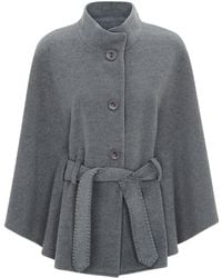 Harrods Wool-Cashmere Cape With Belt - Lyst