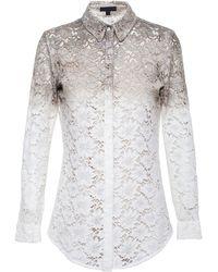 Burberry Prorsum Longline Lace Shirt - Lyst