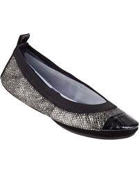 Yosi Samra Samra Cap Toe Ballet Flat Silver Snake - Lyst