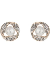 Mikey - Large Stone Surround Crystal Earring - Lyst